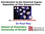 Introduction to the Chemical Vapour Deposition of Thin Diamond Films