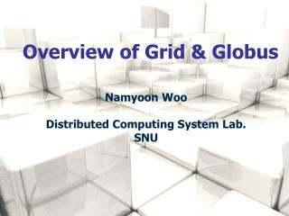 Overview of Grid & Globus