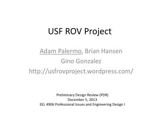 USF ROV Project