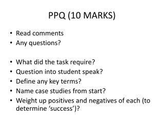 PPQ (10 MARKS)