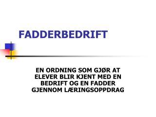 FADDERBEDRIFT