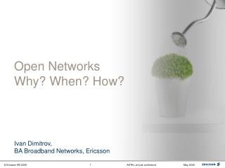 Open Networks Why? When? How?