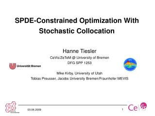 SPDE-Constrained Optimization With Stochastic Collocation