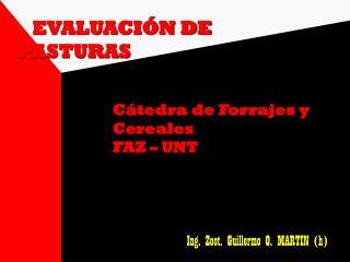 EVALUACIÓN DE PASTURAS