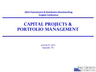 Capital Projects &  Portfolio Management