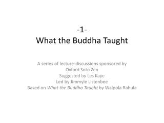 -1- What the Buddha Taught