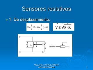 Sensores resistivos