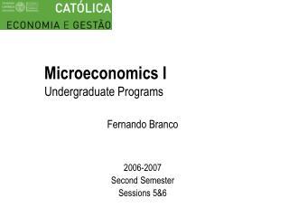 Microeconomics I