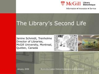 The Library�s Second Life