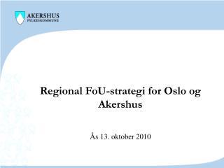 Regional FoU-strategi for Oslo og Akershus