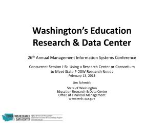 Washington�s Education Research & Data Center