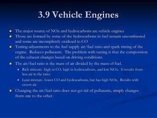 3.9 Vehicle Engines