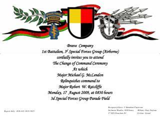 Bravo  Company 1st Battalion, 3 d  Special Forces Group (Airborne)