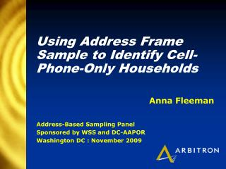 Using Address Frame Sample to Identify Cell-Phone-Only Households
