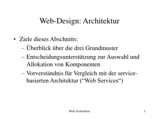 Web-Design: Architektur