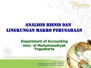 Analisis Bisnis dan  Lingkungan Makro PErusahaan