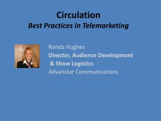 Circulation  Best Practices in Telemarketing