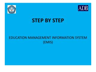 STEP BY STEP EDUCATION MANAGEMENT INFORMATION SYSTEM (EMIS)