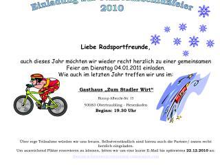Liebe Radsportfreunde,