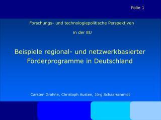 Forschungs- und technologiepolitische Perspektiven  in der EU