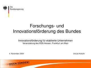 Forschungs- und Innovationsförderung des Bundes