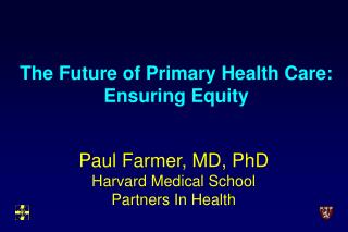 The Future of Primary Health Care: Ensuring Equity