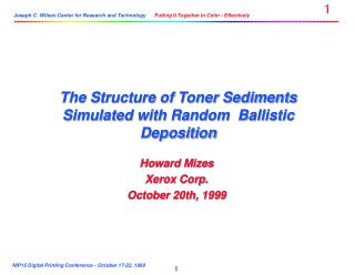 The Structure of Toner Sediments Simulated with Random  Ballistic Deposition