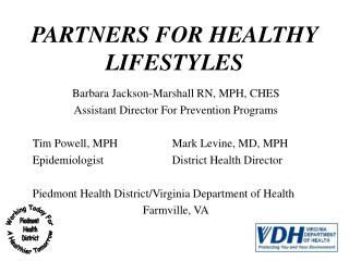 PARTNERS FOR HEALTHY LIFESTYLES