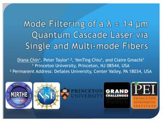 Mode Filtering of a    14  m Quantum Cascade Laser via Single and Multi-mode Fibers
