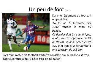 Un peu de foot….