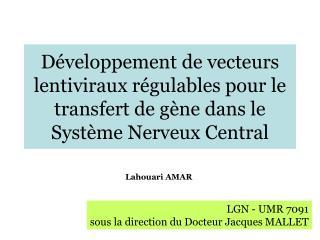 LGN - UMR 7091 sous la direction du Docteur Jacques MALLET