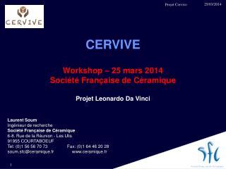 CERVIVE Workshop – 25 mars 2014 Société Française de Céramique Projet Leonardo Da Vinci