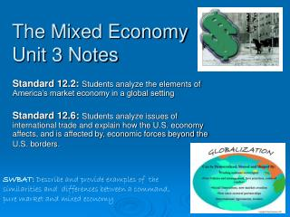 The Mixed Economy Unit 3 Notes