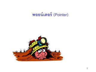 พอยน์เตอร์ ( Pointer)