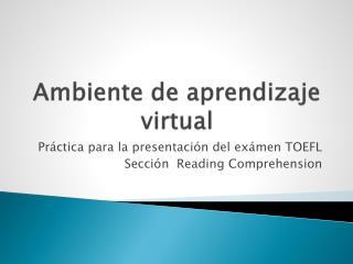 Ambiente de aprendizaje virtual