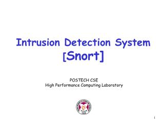 Intrusion Detection System [ Snort]