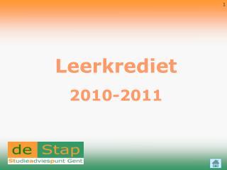Leerkrediet 2010-2011