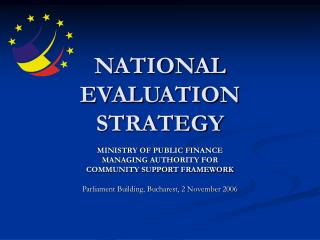 NATIONAL EVALUATION STRATEGY