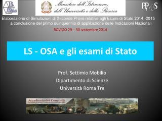 LS - OSA e gli esami di Stato
