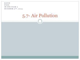 5.7- Air Pollution