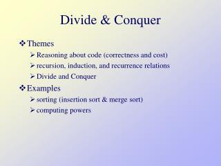 Divide & Conquer