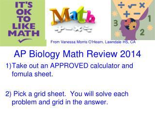AP Biology Math Review 2014
