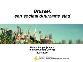 Brussel,  een sociaal duurzame stad