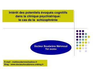 Docteur Boudarène Mahmoud Tizi ouzou