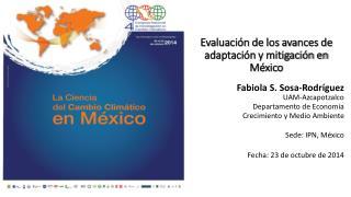 Evaluación de los avances de adaptación y mitigación en México