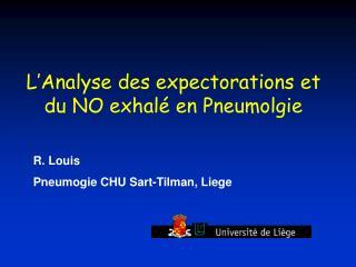 R. Louis Pneumogie CHU Sart-Tilman, Liege