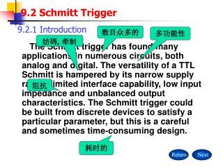9.2 Schmitt Trigger