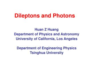 Dileptons and Photons