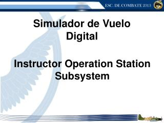 Instructor Operation Station Subsystem