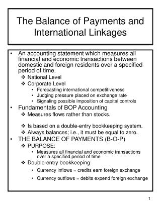 The Balance of Payments and International Linkages